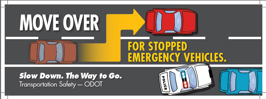 Slow Down or Move Over for Stoped Emergency Vehicles
